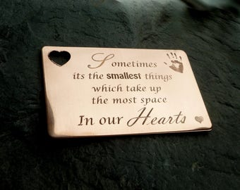 Engraved Handprints Wallet Inset Love Quotes Mothers Day Gift Daddy Gifts