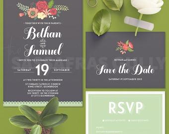 Spring Fling Wedding Invitation Suite