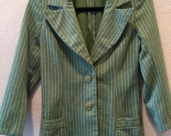 CLEARANCE Green striped blazer