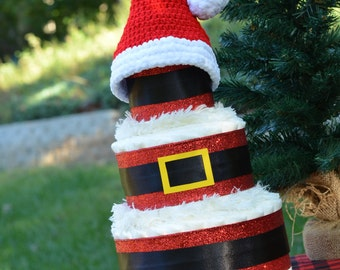 Christmas Baby Shower Decoration - December Baby Gift - Santa Baby - Christmas Diaper Cake - December Baby Shower - Baby Santa Hat