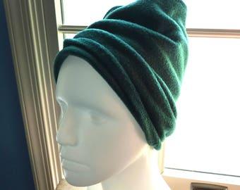 Polartec Fleece Neck Gaiter Fleece Hat Green Fleece Hat