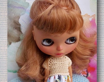 Dress for Blythe doll sweater + FREE SHIPPING RESERVE