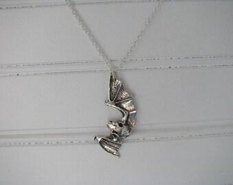 Sterling silver Bat Necklace