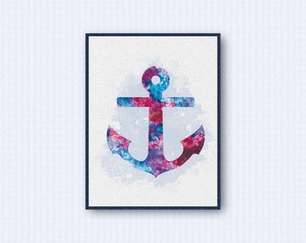 Anchor Watercolor Poster