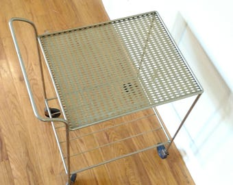 Mid Century Metal Bar / Serving Cart