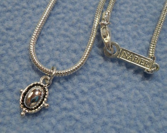 Napier Delicate Silver Necklace