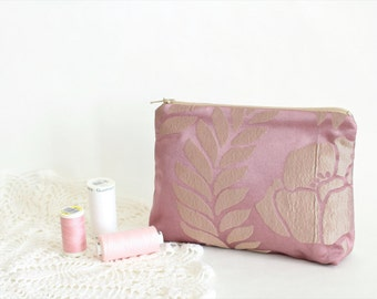 Gift for women gift Womens gifts Makeup bag Cosmetic bag Makeup storage Cosmetic storage Cosmetic pouch Taffeta bag Purple fabric bag small