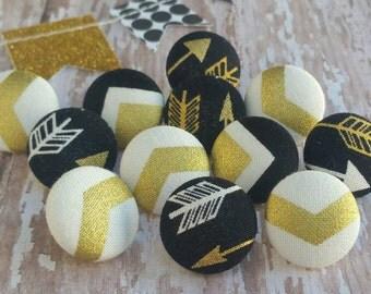 Decorative Thumbtack set, Push Pin, Thumb tacks, Gold thumb tacks, Cubicle decor, Arrow decor, Arrow, Gifts under 20, Dorm room decor, 12 pc