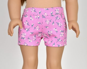 Shorts 18 inch doll clothes Pink Floral