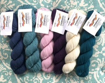 Cascade 220 Superwash Sport 5.99 +1.10ea to Ship - Colonial Blue 904, Summer Sky 1910, Purple 803, Como Blue 811 + FREE Patterns. MSRP 7.45