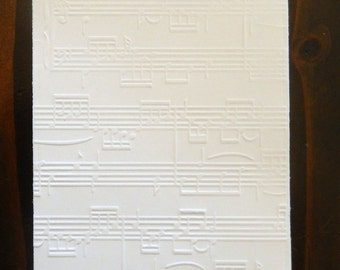Music Notes, Music Sheets Embossed Cardstock, Embossed Sheets, Embossed Card Fronts
