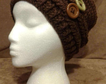 Crochet slouchy hat set