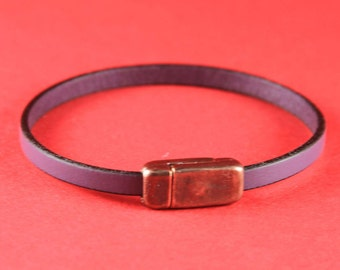 5/4 MADE IN EUROPE copper magnetic clasp, 5mm flat cord clasp, bracelet clasp, flat cord magnetic clasp (XM5980AC) Qty1
