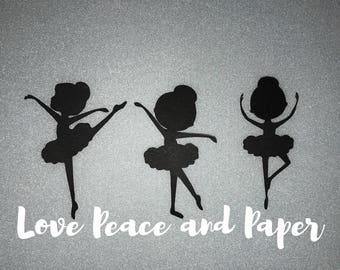 Ballerina Cupcake Toppers - Ballet Cupcake Toppers