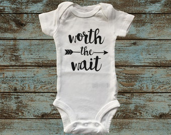 Worth the Wait Onesie with Arrow