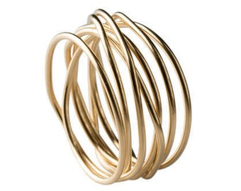Wire Ring Gold