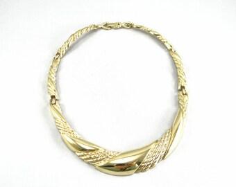 Tifari Necklace, Gold Tifari Necklace, Tifari Choker, Vintage Tifari