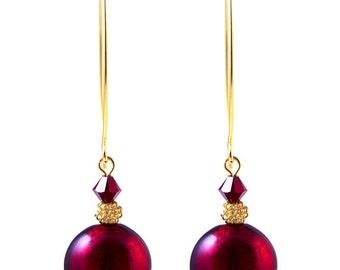 Murano Glass Earrings from Mystery of Venice  'Garnet Dance', Murano Glass Jewelry, Red Earrings, Glass Earrings, Italian Earrings