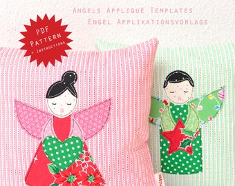 PDF Applique Template - Angels
