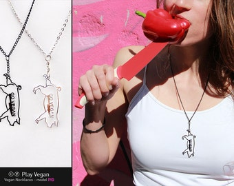 Vegan Necklace - Pig