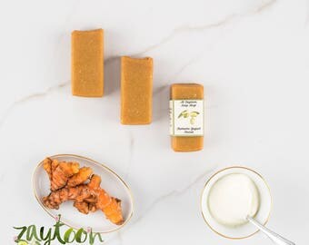 Turmeric Yogurt Facial Soap -- Natural Facial Cleanser with Pure & Natural Ingredients