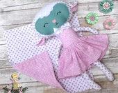 Baby Lamb Doll - Plush Doll - Fabric Doll - Handmade Doll -Cloth Doll -  Rag Doll - Soft Doll - Nursery Decor - Stuffed Animal Doll