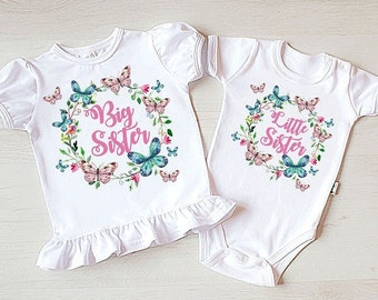 Big Sister Little Sister Outfit. Big Sister Little Sister Shirts. Big Sister Shirt & Little Sister Bodysuit Siblings Shirt.