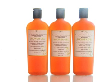 Organic Antioxidant Body Wash with Rooibos, White Tea Extracts, All Natural Aromatherapy Moisturizing Shower Gel Sulfate Free   Vegan