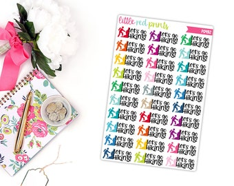 Hiking Planner Stickers for the Erin Condren Life Planner, Script Sticker, Script Planner Sticker - [P0492]