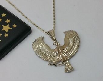 Eagle pendant vintage 925 Silver bird of prey SK780