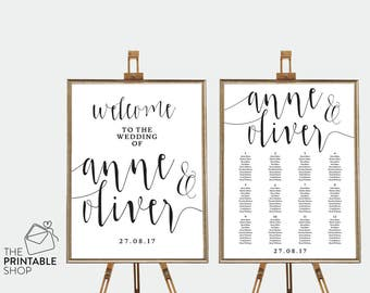 Rustic wedding decor, Rustic wedding seating chart rustic, Printable seating chart, Printable wedding signs, Wedding welcome sign rustic