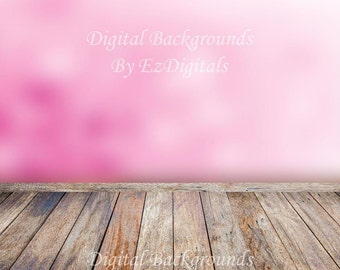 Pink Wood Floor Etsy