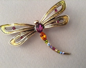 Monet Dragonfly Brooch/Pin