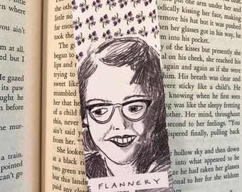 Flannery O'Connor Bookmark - illustrated - bookmark - author
