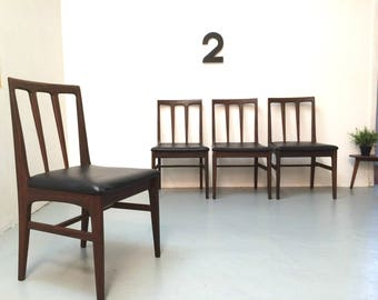 Vintage Retro Dining Chairs - 1960s Solid Wood