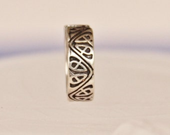 ring silver vintage ring B7