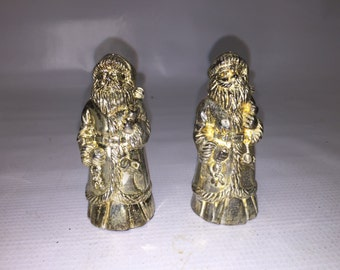 The Bombay Company Godinger Metal Santa Claus Salt & Pepper Shakers - Christmas