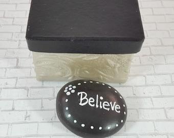 Prayer Rock - Hand Painted Rocks - Worry Stone - Painted Rocks - Prayer Box - Rock Art - Paperweight - Christmas Gifts under 10