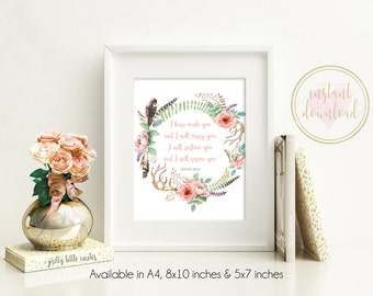 Bible Verse Print, Scripture Print, Bible Verse Art, Printable, Scripture Printable, INSTANT DOWNLOAD, Christian Wall Art, Isaiah 46:4