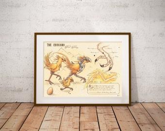 Medium - Chocobo - Final Fantasy Art Print