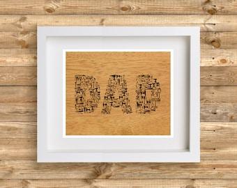 Dad Hand Tools Print
