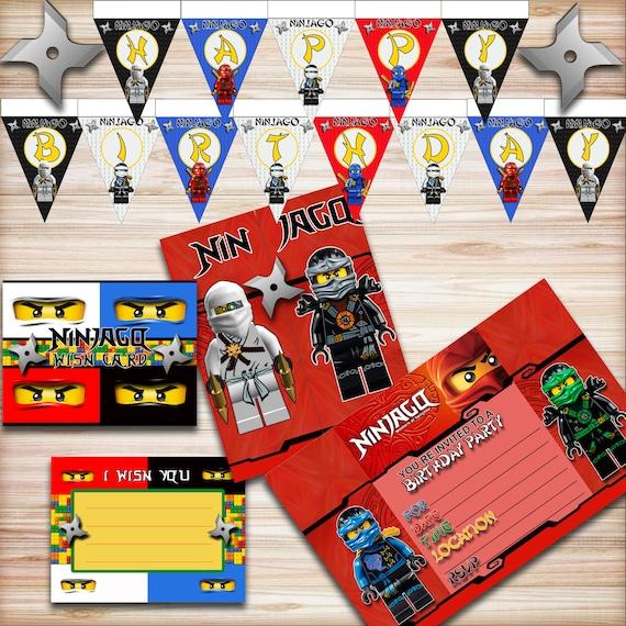 A Lego Ninjago Birthday Party: Lego Ninjago Birthday Party Kit Ninjago Banner Ninjago