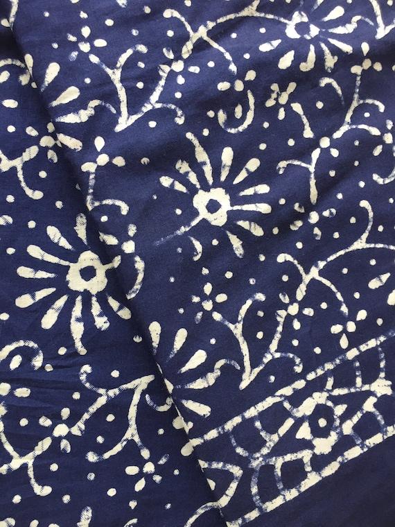 Batik Print Floral Batik Indian Cotton Indian Fabric