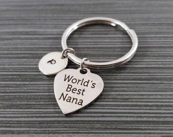 World's Best Nana Keychain - Gift for Grandma - Custom Gift - Custom Keychain - Grandmother Gift - Nana Gift -  Grandma Key Chain