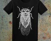 CICADA - Men's T-Shirt // Forest & Nature Lovers // Highly Detailed Illustration // Outdoorsman // Unisex Tee // 100% Cotton (Ready To Ship)