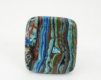 Rainbow Calsilica Cabochon