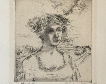 Andrew Rush Etching titled For Hazel, Signed and Numbered 8/60