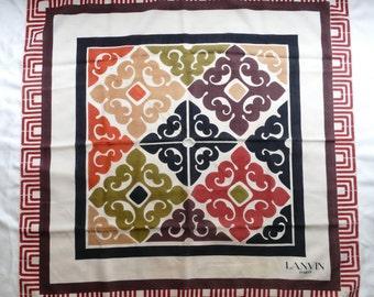 Large scarf Lanvin vintage cashmere and silk 83 x 83 cm