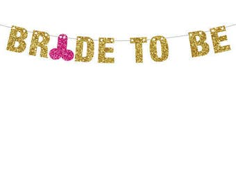 Bride To Be Banner, Bachelorette Banner, Bachelor Banner, Same Penis Forever Banner, Glitter Banner, Wedding Shower Decor, XRated Decor