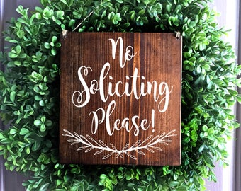 No Soliciting Sign, Do Not Disturb Sign,  No Solicitation Sign, Door Sign, No Soliciting Door Sign, No Solicitors Sign, Wreath Sign